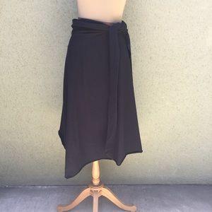 Black Knit Convertible Skirt-Dress